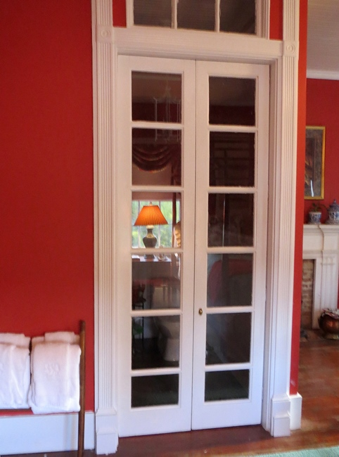 Red bedroom