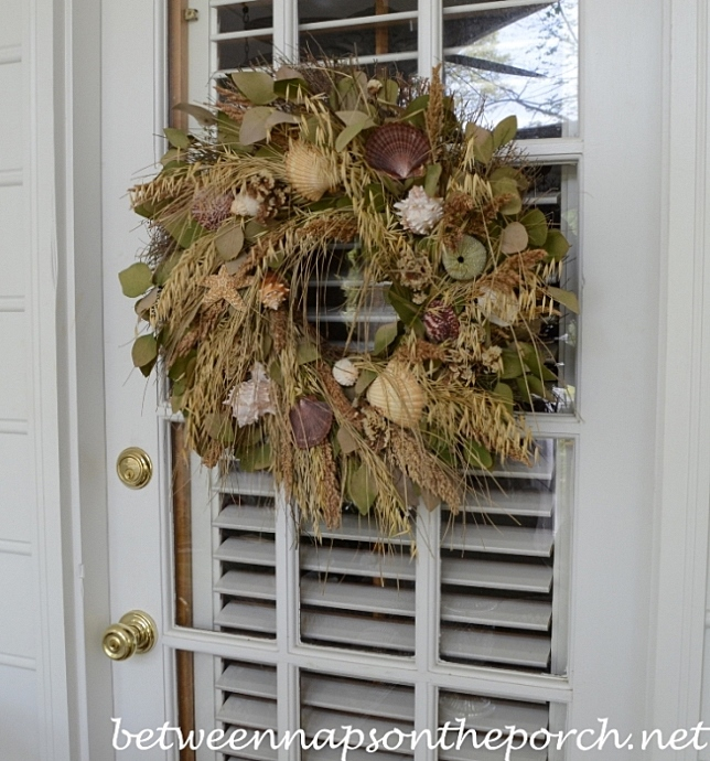 Shell Wreath for Porch Door