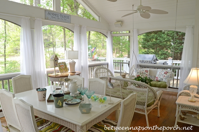 Hide Metal Swing Chains For A Softer Look On A Porch