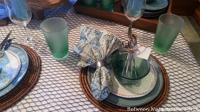 Aqua Fishing Themed Table Setting