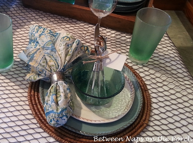 Beach and Fishing Themed Table Setting