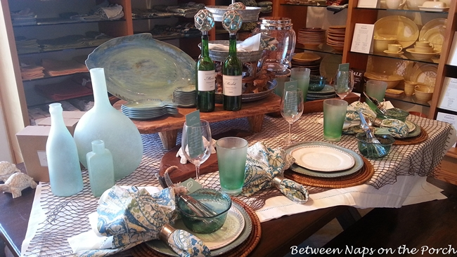 Aqua Fishing Themed Tablescape