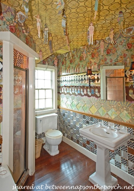 Bathroom in Carriage House of MacKenzie-Childs Estate