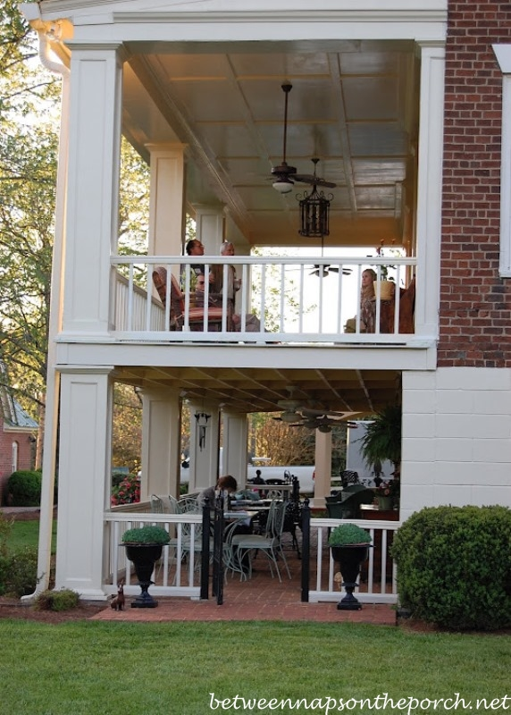 Porch designs ideas build a two story porch or double porch for Porch design for terrace house