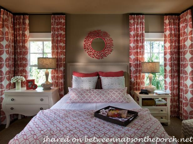 HGTV Smart House 2013 Red and White Bedroom