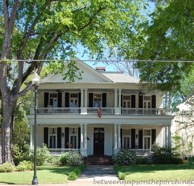 Porch designs ideas build a two story porch or double porch for Home plans georgia
