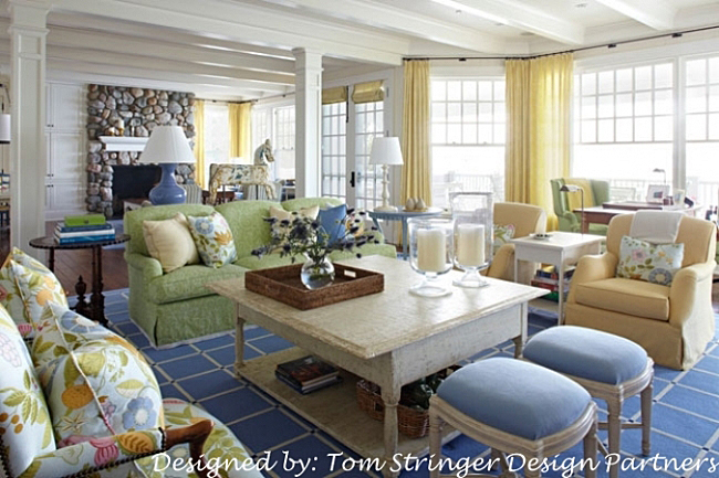 Living Room Summer Home on the Water
