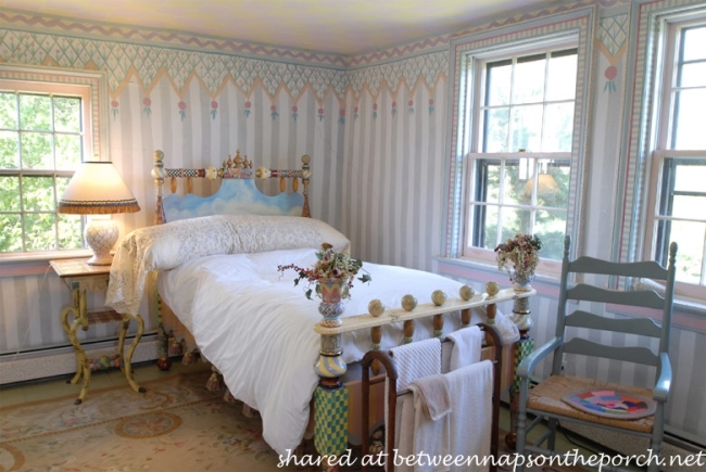 Whimsical Bedroom in MacKenzie-Childs Estate