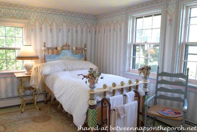 Whimsical Bedroom in MacKenzie-Childs Estate