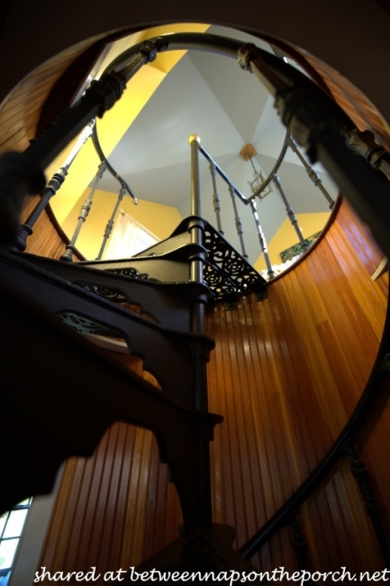 Spiral Staircase in Carriage House on MacKenzie-Childs Estate