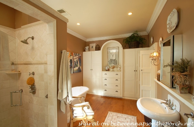 Updated Master Bath in 1825 Historic Home