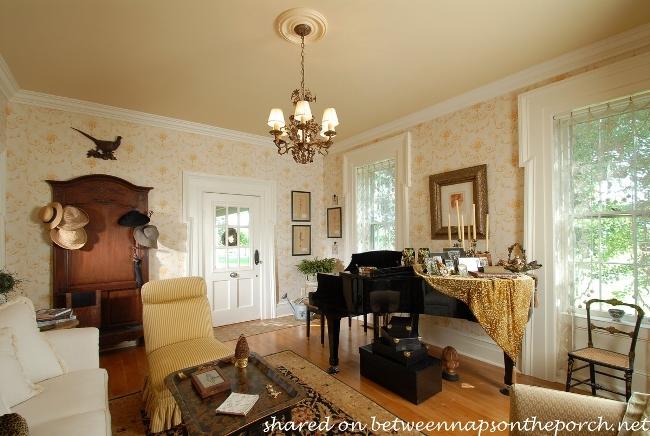 Music Room in Historic 1825 Home Equestrain Farm