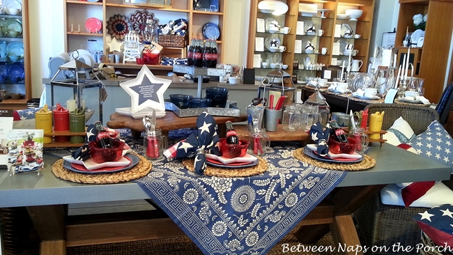 Patriotic Tablescape for the 4th of July or Memorial Day