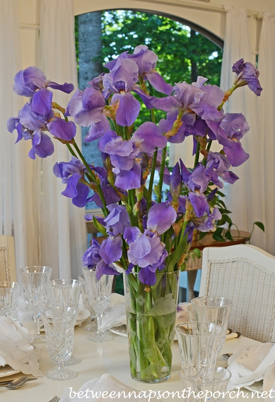 Purple Iris Table Centerpiece