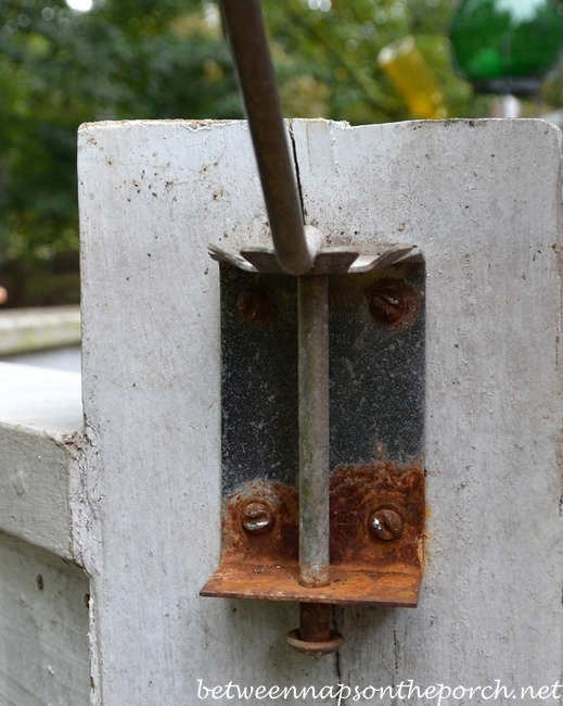 Rusted Shepherd's Hook