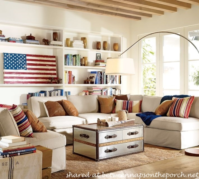 Rustic Wood Flag for Patriotic Holidays