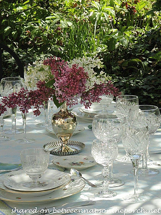 Spring Table Setting in the Garden