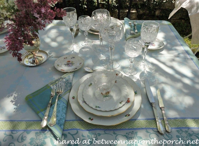 Spring Table Setting with Nymphenburg, Meissen and Herend 1a