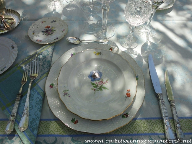 Spring Table Setting with Nymphenburg, Meissen and Herend