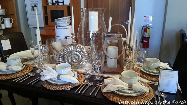 White Beach Themed Tablescape