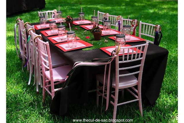 Woodland Fairy Birthday Party Tables