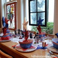 A 4th of July Table for Children