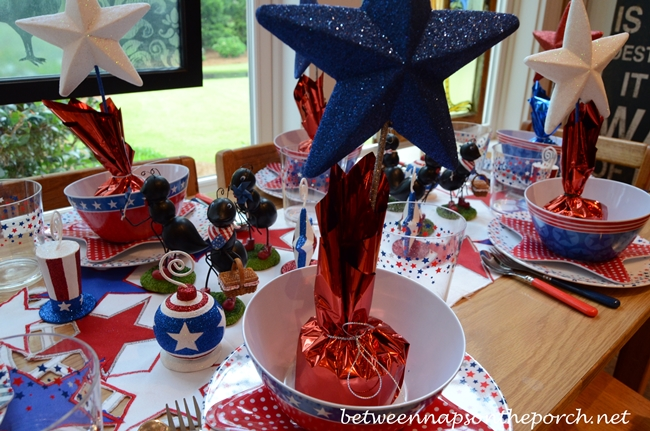 4th of July Children's Table Setting