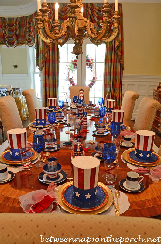 4th Of July Patriotic And Independence Day Party Table
