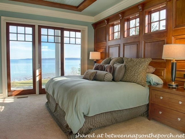 Paneled Bedroom in Beach House