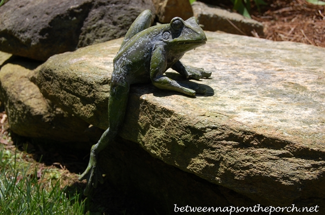 Climbing Frog Sculpture for the Garden