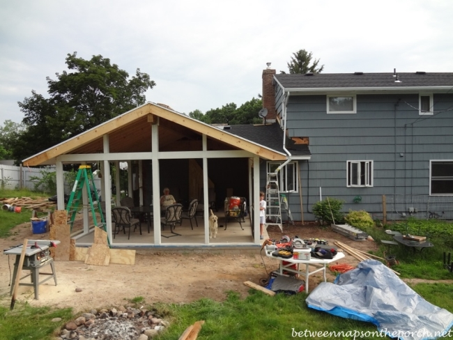 Construction of Screened Porch