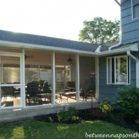 Screened-In Porch Addition: Patio Becomes Screened-In Porch