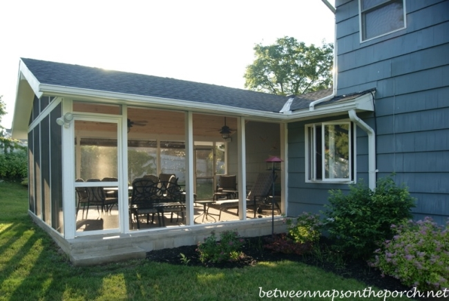 Screened in Porch Addition Convert A Patio Into