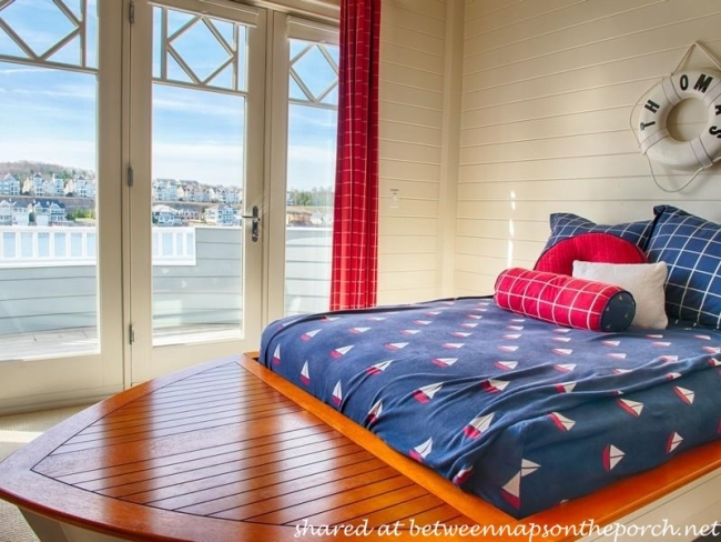 Nautical Boat-Shaped Bed for Beach House