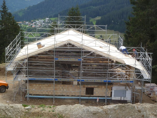New Roof for Swiss Cabin
