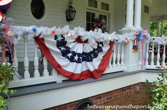 Patriotic Bunting for the Porch