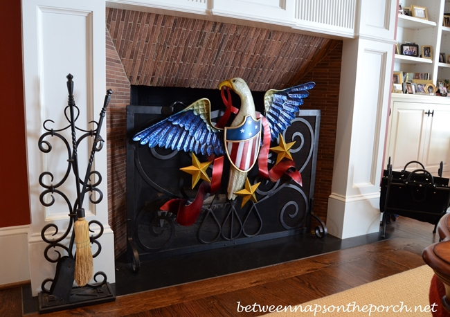 Patriotic Eagle Fire Screen