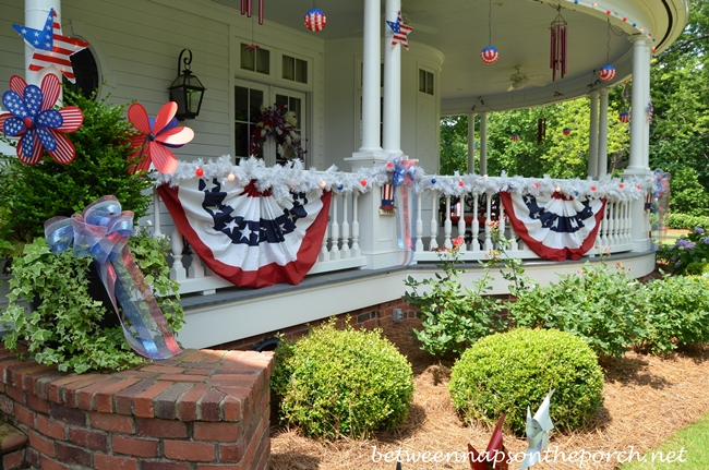 Red, White and Blue Bunting for 4th of July