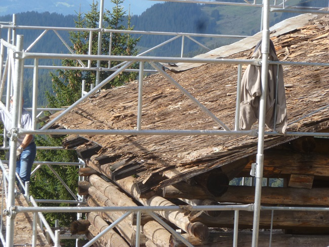 Roof on Swiss Cabin