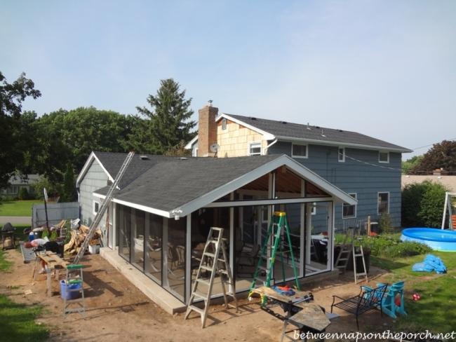 Beautiful Screened Porch Construction