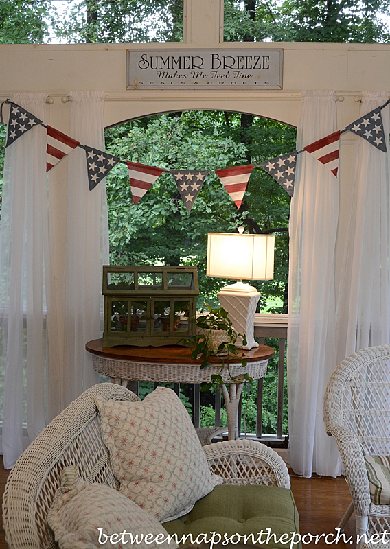 Make 4th of July Patriotic Banner, Pottery Barn Inspired