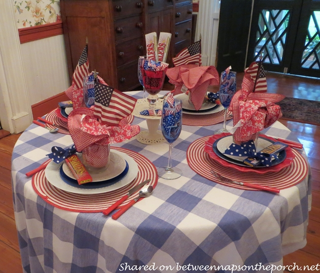 4th of July Tablescape for Four