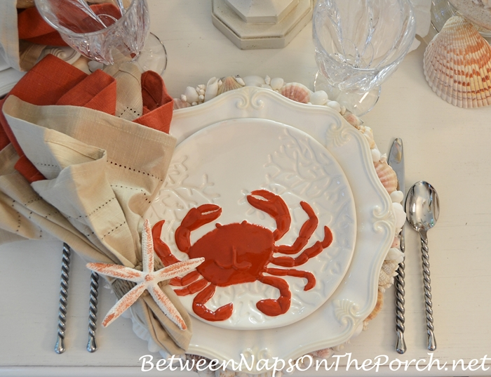 Beach Table Setting with Crab and Lobster Plates_wm (2)
