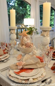 Beach Tablescape with Lobster & Crab Plates_wm