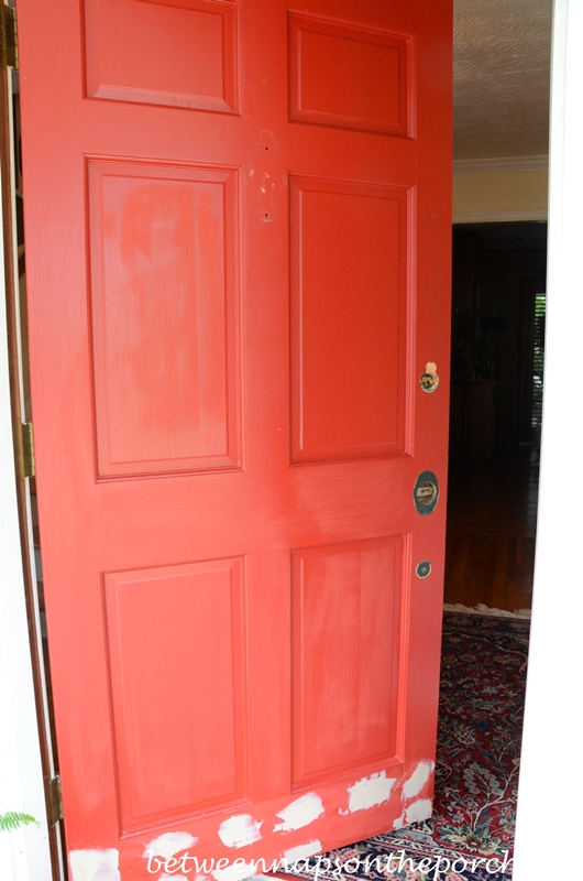 painting the front door red, benjamin moore heritage red