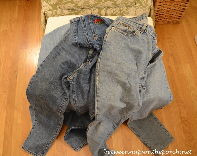Old Jeans Recycled and Repurposed