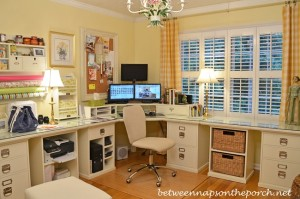 Pottery Barn Office with Bedford Furniture and the Airgo Desk Chair