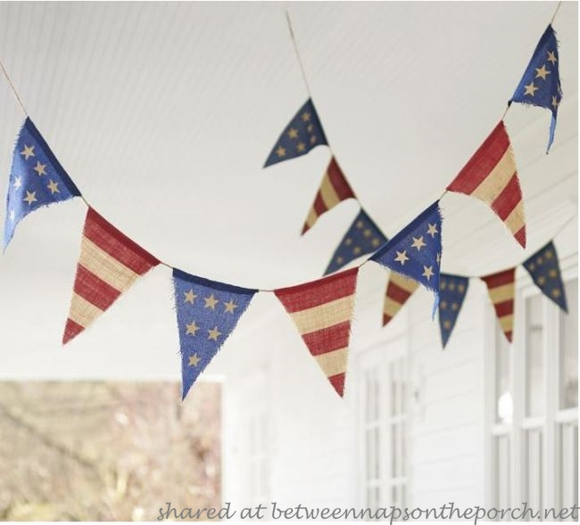 Pottery Barn Patriotic Flag Banner