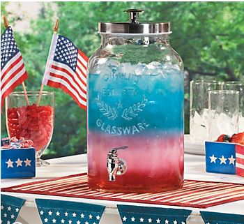 Patriotic Punch For The 4th Of July Between Naps On The Porch