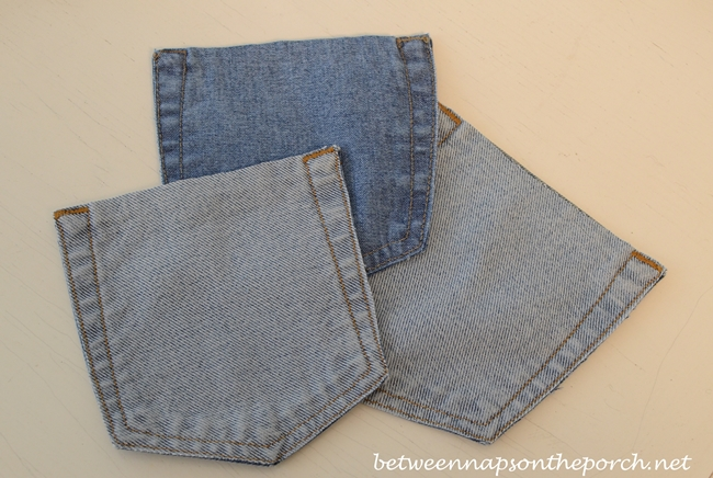 Recycle Jeans Pocket for Flatware Holders